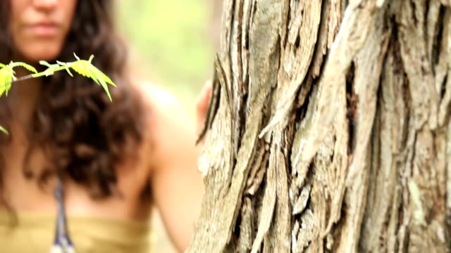 native american woman walking - maple tree stock videos and b-roll footage