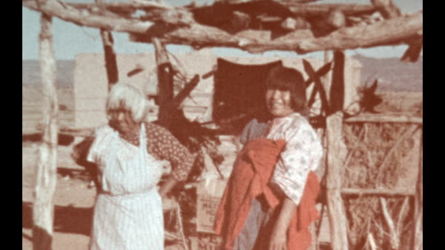 native american women sell their pottery in new mexico. - pottery stock videos & royalty-free footage