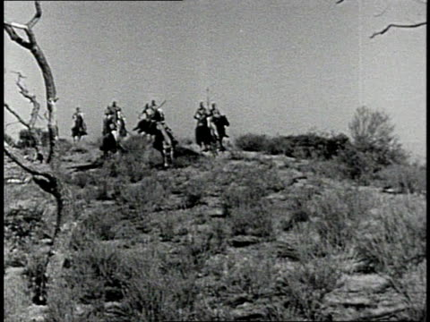 reenactment native americans riding over a hill / united states - indigenous peoples of the americas stock videos & royalty-free footage