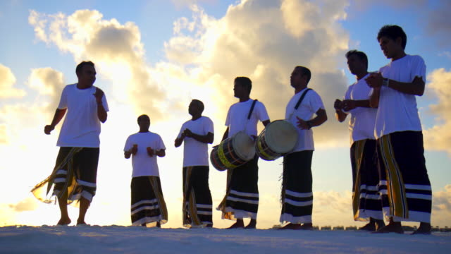 native local men play drums, music and dance at a tropical island resort hotel. - slow motion - drum percussion instrument stock videos & royalty-free footage