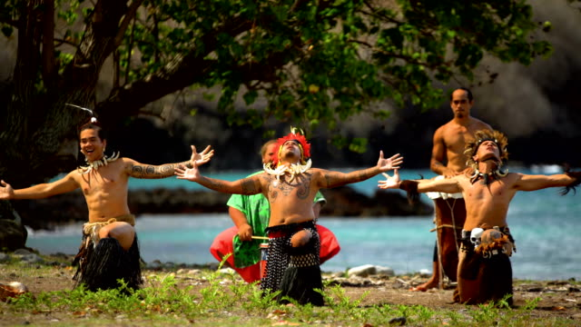 native males playing musical instruments nuku hiva marquesas - polynesian ethnicity stock videos & royalty-free footage