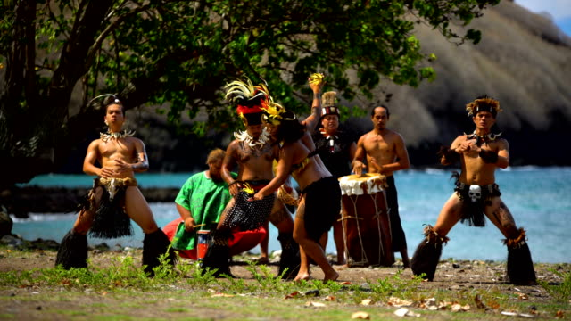 native marquesan group performing bird dance marquesas pacific - polynesian ethnicity stock videos and b-roll footage