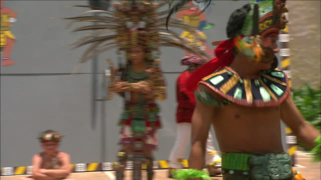 natives perform a mayan dance. - mayan stock videos & royalty-free footage