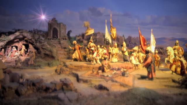 ws nativity scene in cologne cathedral / cologne, germany - キリスト降誕点の映像素材/bロール