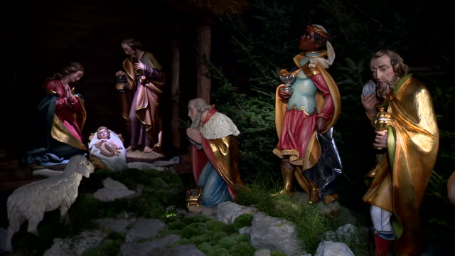 nativity scene - キリスト降誕点の映像素材/bロール