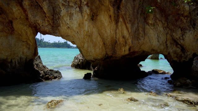 natural arch, beach cave - polarizer stock videos & royalty-free footage