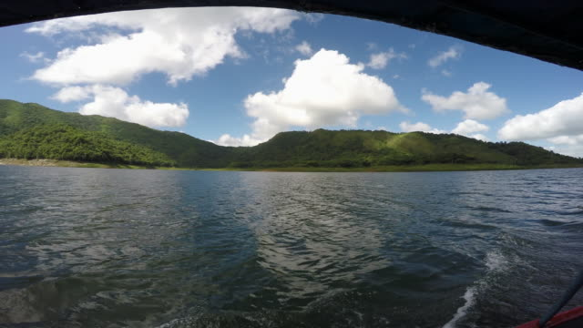 Natural beauty of Cuba: Hanabanilla Lake or Dam, point of view image with an action camera.