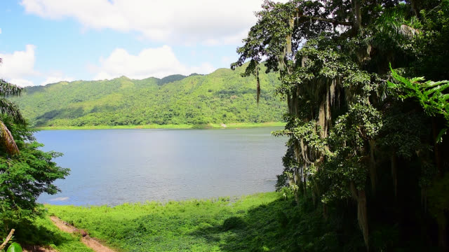 natural beauty of hanabanilla lake or dam - eco tourism stock videos & royalty-free footage