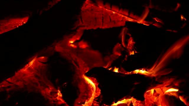 Natural Campfire Closeup