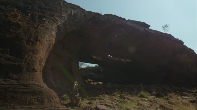 A natural  cave in South India