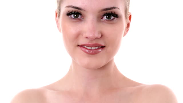 natural female beauty face - beautification stock videos and b-roll footage