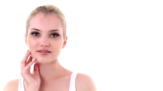 natural female beauty face - skin feature stock videos & royalty-free footage