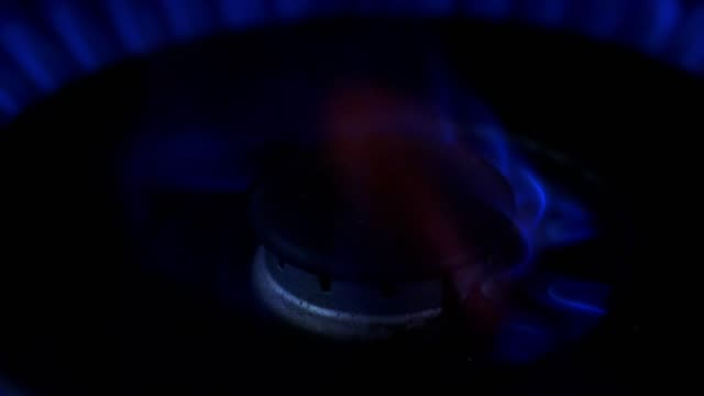 natural gas cooker ring burning - cooker stock videos and b-roll footage