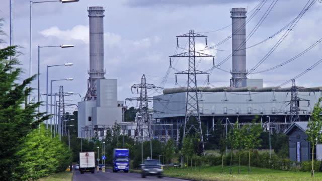 vídeos y material grabado en eventos de stock de natural gas fired power station - huella de carbono