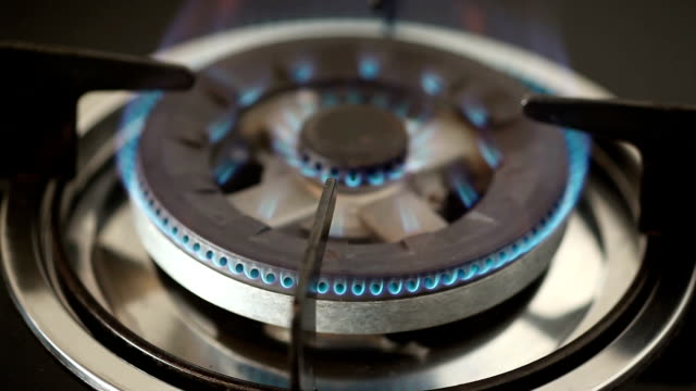 natural gas stove flame - cooker stock videos and b-roll footage