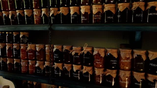 natural jam jar in sirince - consumerism stock videos & royalty-free footage