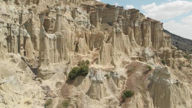 natural phenomenon fairy chimney rocks - rock hoodoo stock videos & royalty-free footage