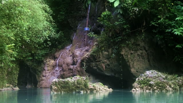 natural pool and waterfall in the jungle - jamaica stock videos and b-roll footage