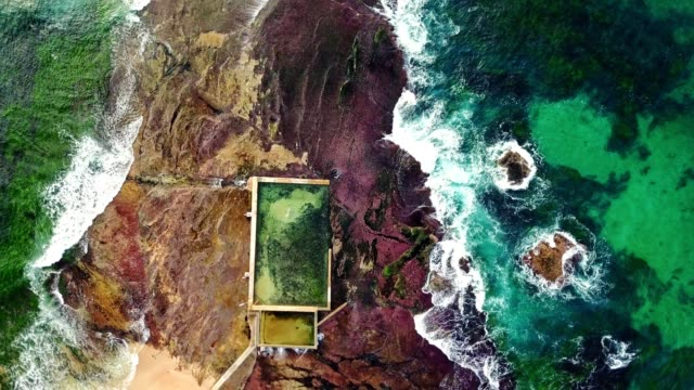 natural pool at mona vale beach in australia