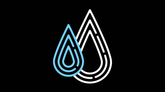 natürlichen ressourcen linie symbol animation mit alpha - umrisslinie stock-videos und b-roll-filmmaterial