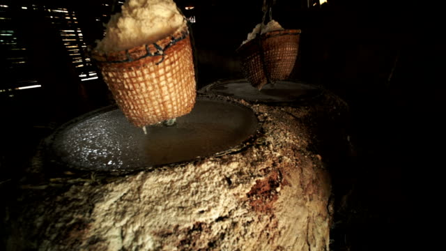 natural salt boiling at boklua - gold mine stock videos and b-roll footage