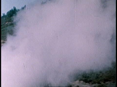 vídeos y material grabado en eventos de stock de 1978 montage natural steam releasing from well / san francisco, california, united states - 1978
