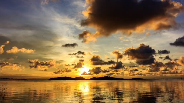 natural sunset and sky - songkhla province stock videos and b-roll footage