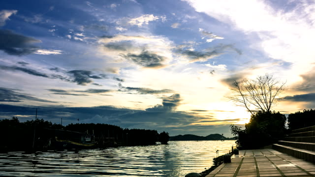 natural wetlands and sunset - songkhla province stock videos and b-roll footage