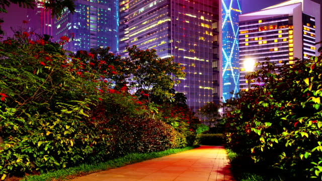 Nature and Futuristic financial district