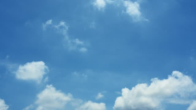nature background - blue sky with clouds - sky only stock videos & royalty-free footage