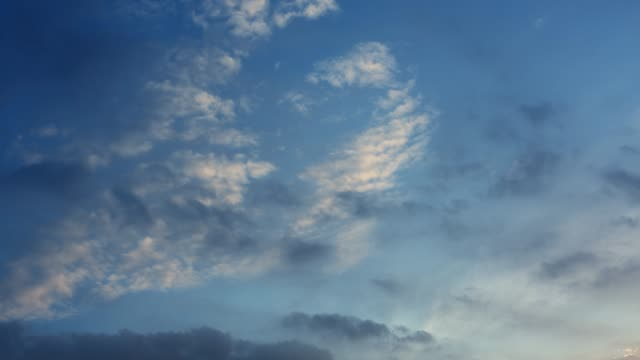 nature background - blue sky with clouds - wispy stock videos & royalty-free footage