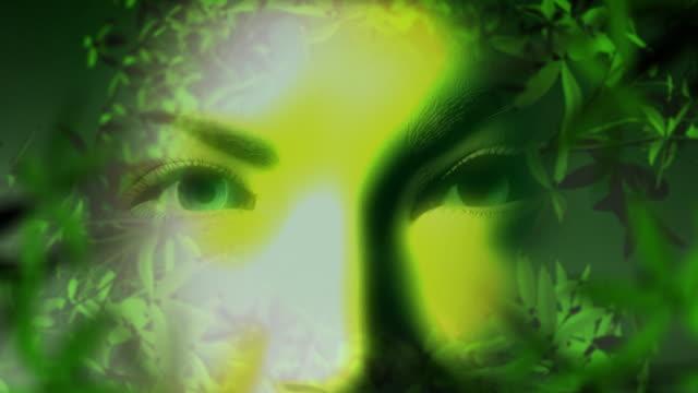 Natur gesunden Gesicht-Konzept
