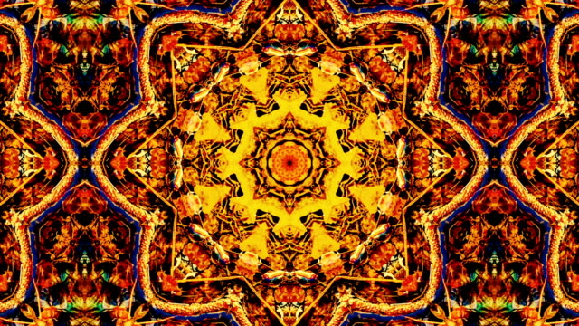 Nature kaleidoscope pattern