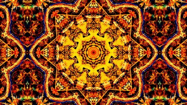 Naturen kalejdoskop mönster