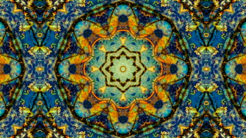 nature kaleidoscope pattern - kaleidoscope pattern stock videos & royalty-free footage