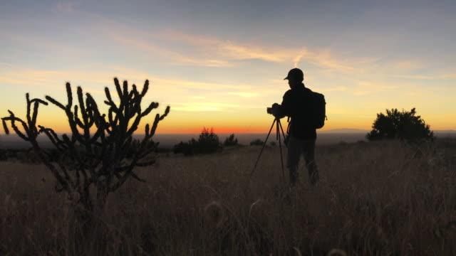 nature photographer landscape sky - artist stock videos & royalty-free footage
