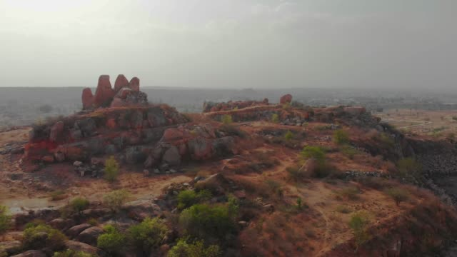 nature - rock formation from high vantage point - sandstone stock videos and b-roll footage