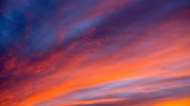 nature-scape cinemagraphs - sunset clouds - orange colour stock-videos und b-roll-filmmaterial