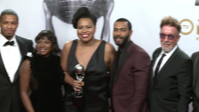 Naturi Naughton Courtney Kemp Agboh Omari Hardwick Mark Canton and Randall Emmett at the 49th NAACP Image Awards at Pasadena Civic Auditorium on...
