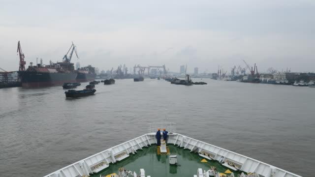 Nautical traffic on Shanghai Huangpu River