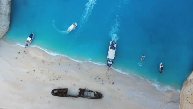 navagio beach, zakynthos island, greece - viewpoint stock videos and b-roll footage