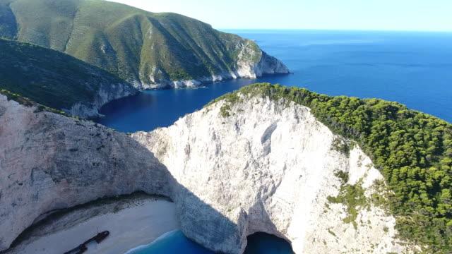 navagio beach, zakynthos island, greece - greece stock videos and b-roll footage