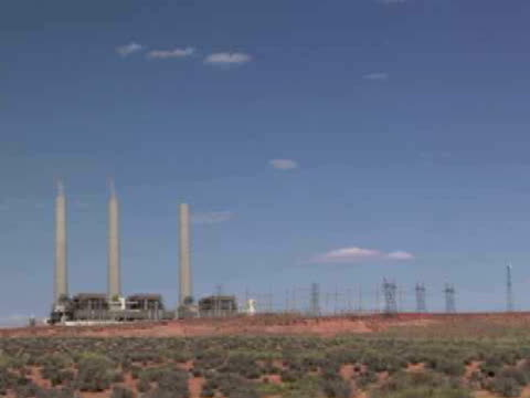 ws, navajo generation station, page, arizona, usa - page arizona stock videos and b-roll footage