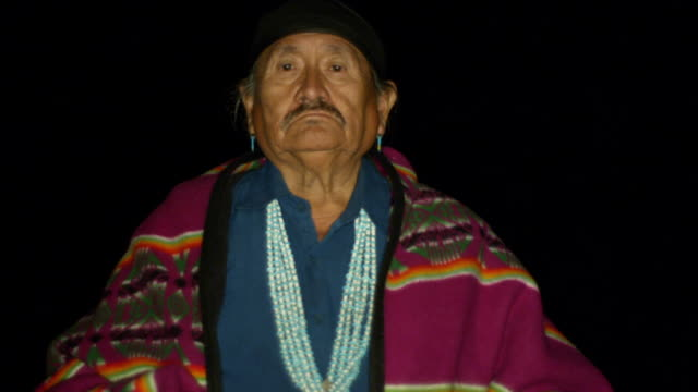 a navajo man turns away from the camera - navajo culture stock videos & royalty-free footage