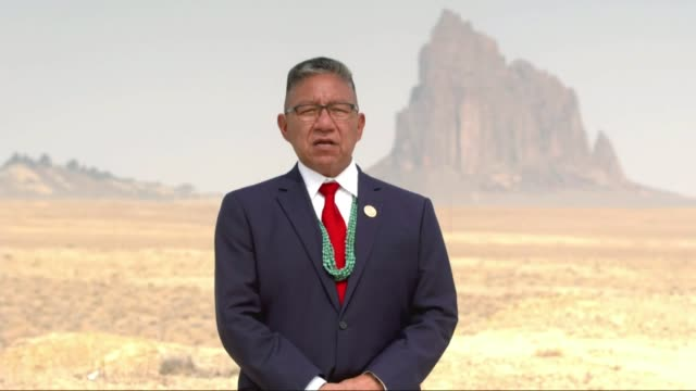 navajo nation vice president myron lizer says in recorded comments to the 2020 republican national convention that their creator placed then there at... - navajo culture stock videos & royalty-free footage