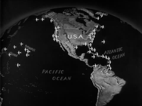 vidéos et rushes de naval bases us caribbean hawaii pre wwii - 1941