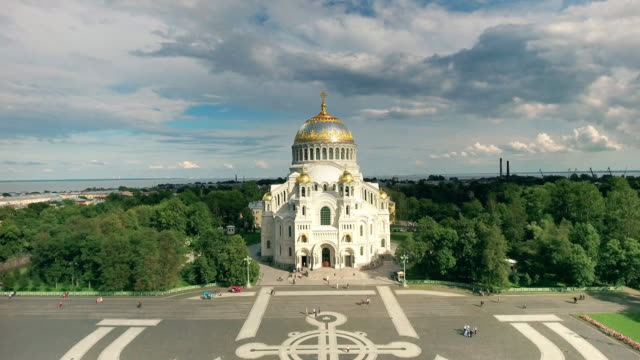 naval cathedral of saint nicholas in kronstadt. - romania stock videos and b-roll footage