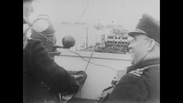 naval officers and and soldiers get ready before launching dday landings during world war ii in june 1944 - d day stock videos & royalty-free footage