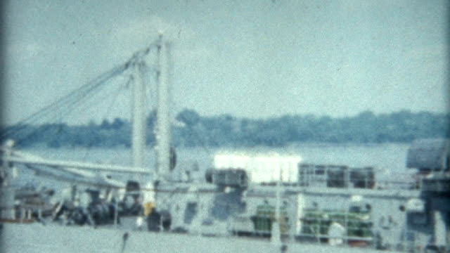 stockvideo's en b-roll-footage met naval ship new york 1950's - amerikaanse zeemacht