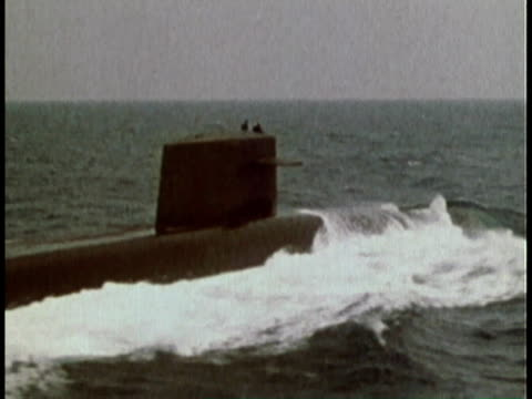 1979 WS naval submarine traveling on surface of ocean/ United States